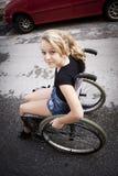 轮椅的孩子 库存图片