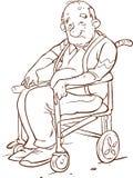 轮椅的老年人 免版税库存照片
