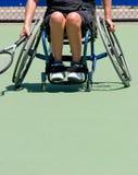 轮椅网球员 图库摄影