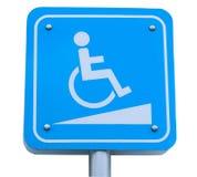 轮椅走道标志或轮椅倾斜标志 图库摄影