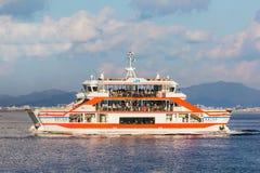 轮渡到宫岛海岛 免版税库存图片