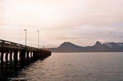 轮渡口岸在挪威 库存图片