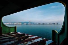轮渡向槟榔岛 库存图片