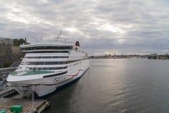 轮渡在斯德哥尔摩 库存照片