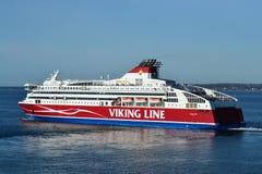 轮渡在波罗的海的北欧海盗线 免版税库存照片