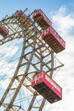 轮渡在维也纳把Prater公园引入 免版税库存照片