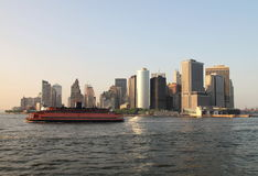 轮渡曼哈顿 免版税库存照片