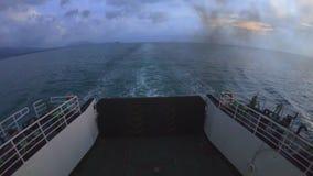 轮渡游轮海TIMELAPSE,愉快的旅行,在泰国轮渡的海洋远航 股票视频
