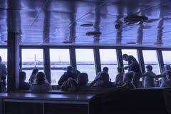 轮渡的乘客休息室 免版税库存照片