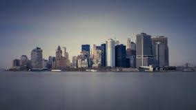 从轮渡的曼哈顿 图库摄影