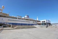 轮渡纪念船Mashu maru日本 图库摄影