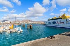 轮渡船弗雷德奥利森在港口 图库摄影