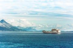 轮渡船,克罗地亚 免版税图库摄影