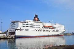 轮渡船Norröna在Torshavn 库存照片