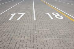 轮渡车道number17和18 库存图片
