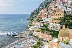 轮渡运输在南意大利 库存照片