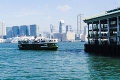 轮渡香港码头 免版税库存图片
