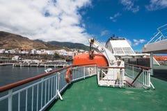 轮渡主甲板从armas划线员的 免版税图库摄影