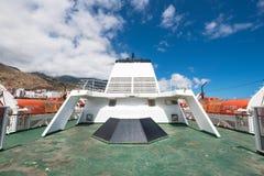 轮渡主甲板从armas划线员的 免版税库存照片