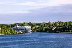 轮渡Tallink Romantica在波罗的海漂浮在斯德哥尔摩 库存图片