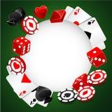 轮盘赌传染媒介赌博娱乐场背景 免版税库存照片