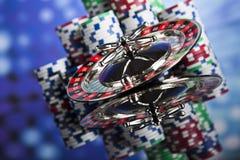 轮盘赌桌在赌博娱乐场 免版税库存图片