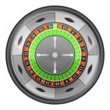 轮盘赌的赌轮顶视图传染媒介被隔绝的 免版税图库摄影