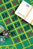 轮盘赌表赌博娱乐场 库存照片