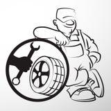 轮胎修理大师  库存图片