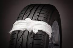 轮胎修理(概念) 免版税图库摄影