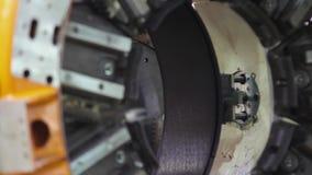 轮胎制造机器人机器 股票视频