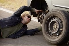 轮胎变动 库存图片