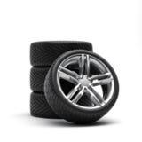 轮胎和外缘 皇族释放例证