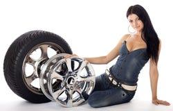 轮胎和盘。 库存图片
