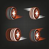 轮胎商店商标 图库摄影