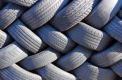 轮胎墙壁。 免版税图库摄影