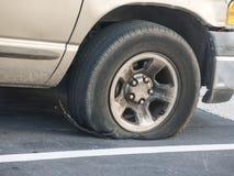轮胎失败 库存图片