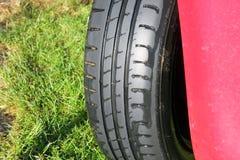 轮胎或轮胎踩 库存照片