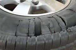 轮胎爆炸 免版税库存图片