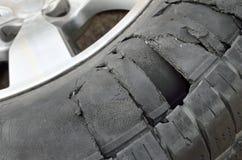 轮胎爆炸 免版税库存照片