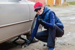 轮胎的季节性变动 免版税库存图片