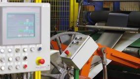 轮胎的生产过程在现代设备的 股票录像