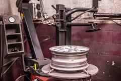 轮胎纺丝机 免版税库存图片