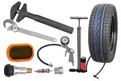 轮胎维修服务工具 库存照片