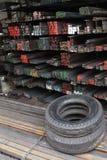 轮胎装卸撬杆 库存照片