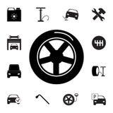 轮胎象 套汽车修理象 标志,概述eco汇集,网站的,网络设计,流动app,信息图表简单的象 向量例证