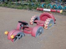 轮胎跑车孩子的 库存照片