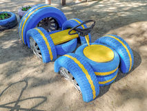 轮胎跑车孩子的 免版税库存图片