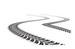 轮胎跟踪 向量例证