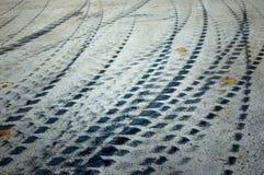 轮胎跟踪 免版税图库摄影